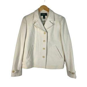 Ralph Lauren Front Button & Zip Short Peacoat